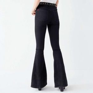 Urban Outfitters BDG Super Tight Black Flare Jeans